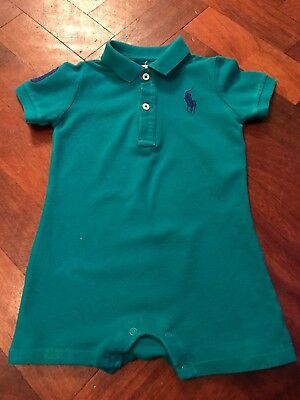 Baby Boys Genuine Ralph Lauren Outfit Romper Age 9-12 Months Great Condition