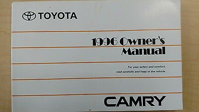 1996 Toyota Camry owner's manual, OEM new old stock 96