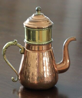 Vintage copper with brass band coffee percolator