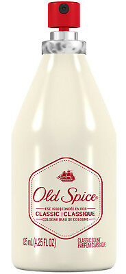 New Old Spice Classic Cologne Spray 4.25 Oz.