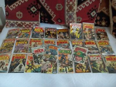 DC Our Army at War Comic Books Sgt. Rock HUGE COMIC LOT X28 1960's-70's