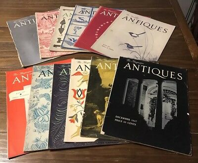 The Magazine ANTIQUES Lot of 12 Vols. 1947 January-December