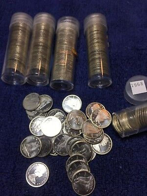 1968 Canadian dime 80% silver (lot of 250)