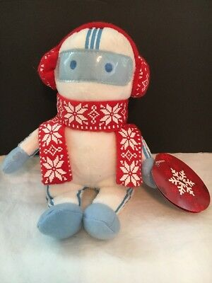 "Cox Cable 2010 Space Man Robot Plush Toy, Collectible 8"" Scarf Muffs astronaut"
