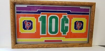 Imperial Palace 10¢ Slot Machine Belly Glass, Las Vegas, NV, Framed