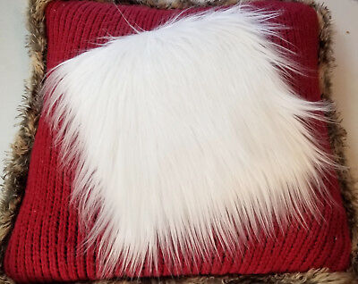 "White Faux Fur Fabric 10""x10"", 10""x12"" Craft Fur - Trimming - Decorating"