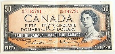 1954 - 50 Dollar - Canada Bank Note Company Ltd. Antique note in best condition