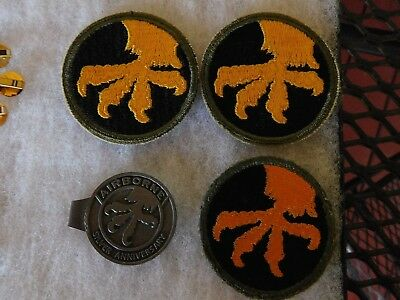 3 Ww2 Wwii Era Original 17Th Airborn Patches And Money Clip