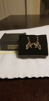 Avon Dangling Witch Pierced Earrings with Surgical Steel Posts