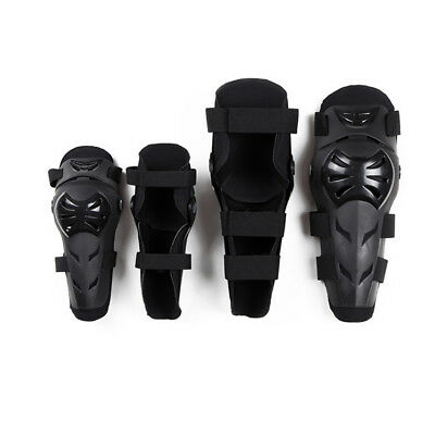 Perfect 4x Kit Elbow Knee Equip Body Portective Guard For Motorcycle Bike -EA92