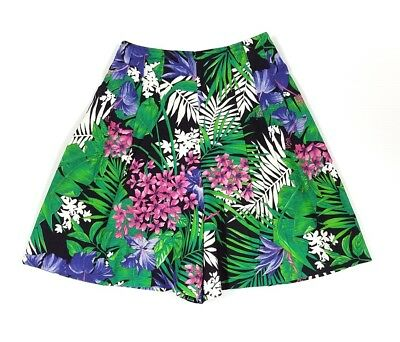 Vintage Culotte Shorts Size Small Byer California 1980's Retro Tropical Floral