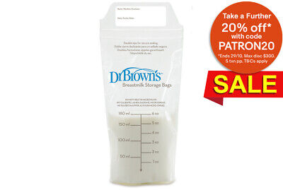 Dr Brown'S 25 Pack Bpa-Free Baby Breastmilk Storage Double Zip Bags For Pump