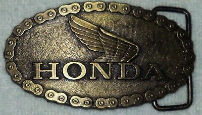 Vintage 1970/80's Honda Motorcycle Belt Buckle