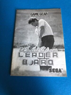 World Class Leaderboard Sega Game Gear MANUAL ONLY! Instruction Booklet! B