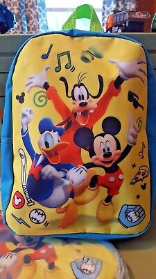 NWT Boys Girls Kids Disney Mickey Mouse Goofy Donald Duck SMALL Backpack Bag