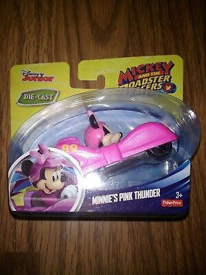 Disney Jr Mickey and The Roadster Racers Minnie/'s Pink Thunder Die Cast Car NIP