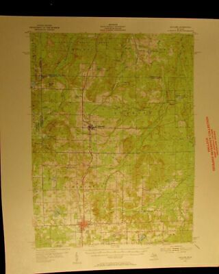 Gaylord Michigan 1954 vintage USGS Topographical chart map