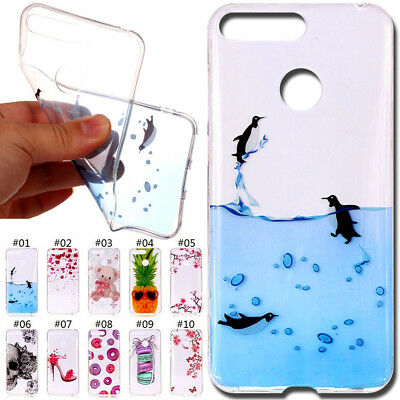 For Huawei Y6(2018)/Honor 7A Cute Silicone TPU Soft Cover Case Rubber Back Skin