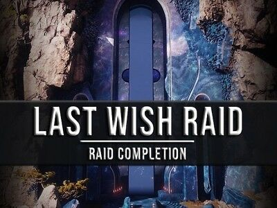 Destiny 2 Last Wish 100% FULL Raid + CHESTS - 24h Completion time [PS4]