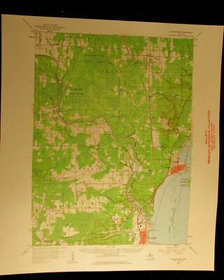 Gladstone Michigan 1959 vintage USGS Topographical chart map