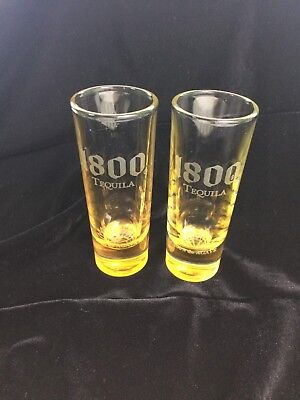 """1800 Tequila Shooter / Shot Glass (Set of 2)  """"Cuervo"""" in Great Condition!"""