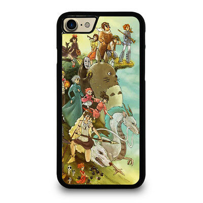 STUDIO GHIBLI CHARACTERS iPhone 4/4S 5/5S/SE 5C 6/6S 7 8 Plus X Case Cover