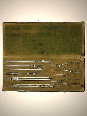 Antique Keuffel & Esser Co. N.Y. Pilot Drawing Instruments Full Set with Case