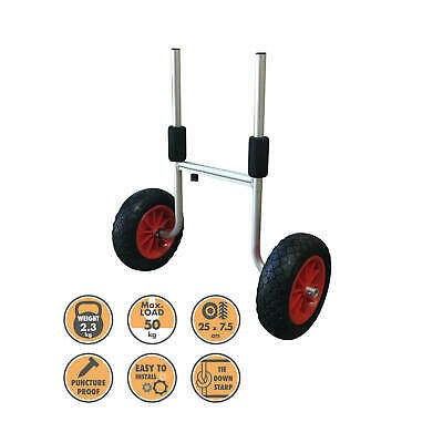 Blackhawk Alloy Kayak Canoe Punchture Proof Leak Free Trolley Wheel Cart Carrier