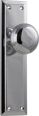 pair polished chrome richmond door handles,round knob with backplates,200 x 50mm