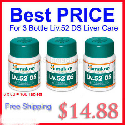 3x60 Tablet Himalaya Liv.52 DS Long EXPIRY Free World Wide Shipping