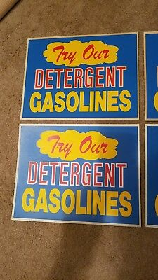 Vintage Plastic Gas Pump Advertising Topper