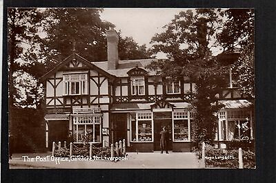 Gateacre Village Post Office near Liverpool - real photographic postcard