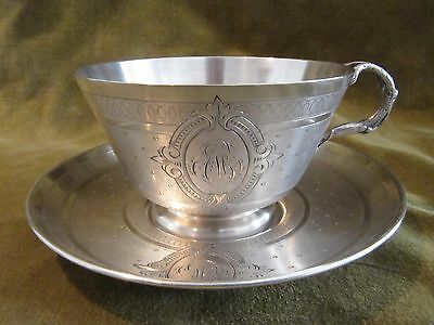 1880 french sterling guilloche silver tea cup Louis XVI St 152g