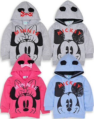 Disney Mickey Minnie Mouse Baby Boys Girls Hoodie Hooded Top Jumper Sweatshirt