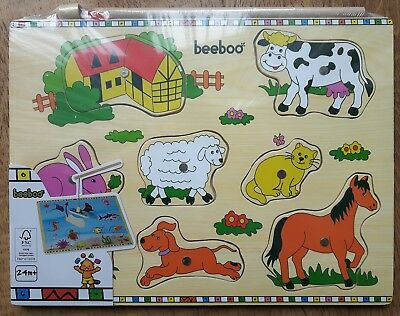 Holzpuzzle Steckpuzzle Puzzle Holz baaboo mit Magnet und Angelrute