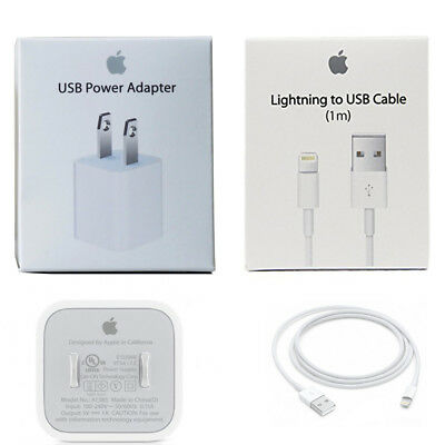 OEM 5W USB Wall Charger With iPhone 7 Plus 6 8 USB Charging Cord Sync Data