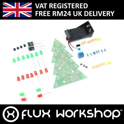 LED Christmas Tree DIY Kit XMAS Unsoldered Soldering Practice Gift Flux Workshop