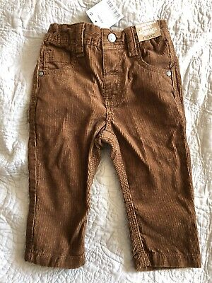 Next Boys Size 9-12 Months Brown Cord Jeans With Tags