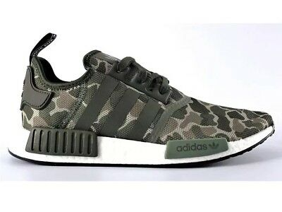 new style 7ba78 6b544 Color Core BlackGrey Four classic cc559 Adidas NMD R1 Boost Duck Camo  Sesame Green New In Box Mens size 11 ...