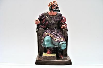 """Royal Doulton The Old King HN2134 Porcelain 10"""" Seated Figure VGC"""