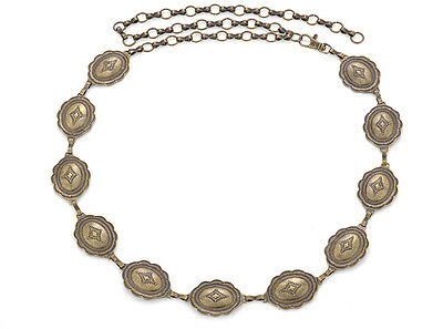 Western Cowgirl Jewelry Antique Gold Concho Belt