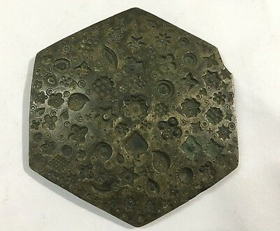 Early 18Th Century Antique Antique Bronze Metal Jewelry Making Die Seal Or Stamp