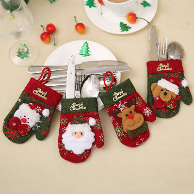 Christmas Gloves Posate Copertina Christmas Party Decoration Xmas Table Orname