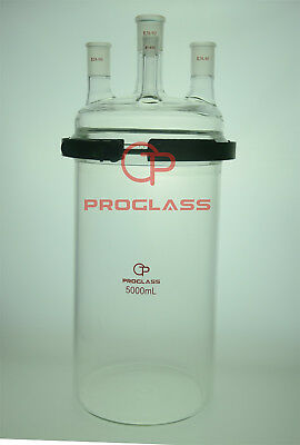 Proglass Glass Separate Flask 5000mL Four Necks with Easy Open PTFE Clamp