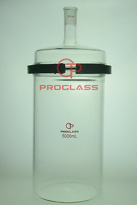 Proglass Glass Separate Flask 10000mL one Neck with Easy Open PTFE Clamp