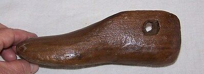 Antique Wooden Wood Child Size Shoe Mold-Cobbler Nail Holes-Hand Carved