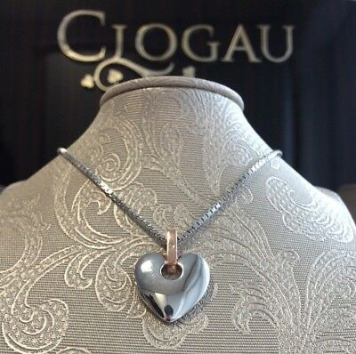 """Official Welsh Clogau Silver & Rose Gold Cariad Pendant (22"""") £160 off!"""