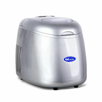 Ice Portable Bullet Cube Maker Machine Quick Easy Auto Home Fast Silver @TOP