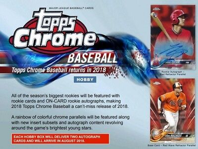 2018 Topps Chrome Baseball Random Player Live 12 Box Hobby Case Break