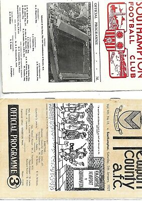 1956/7 FACup  both matches Newport V Southampton and replay